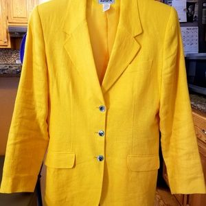 Other - Yellow 2 piece pant suit